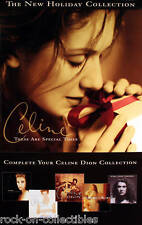 Celine Dion 1998 Holiday Gifts Original High Gloss Double Sided Promo Poster
