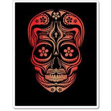 """Sugar Skull Dia de los Muertos Mexico car bumper sticker decal 5"""" x 4"""""""