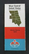 1973 winter spring Western United States road map American oil route 66