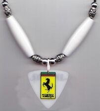 Dir en grey Toshiya Bass Guitar Pick Necklace White Beads