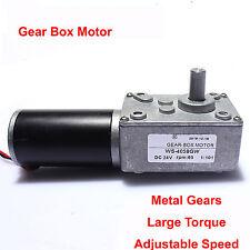 Ultrashort motor High-torque worm gear motor DC motor 4058GW 24V 65rpm 8.625KG
