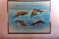 WHALES & DOLPHINS  MUH 4 STAMPS  MINI SHEET