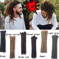 12'' Mens Short Dreadlocks Crochet Twist Braid Synthetic Dreads Hair Extensions