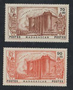 1939-MADAGASCAR - YVERT N° 210 - 211 Neuf*  legere charniere