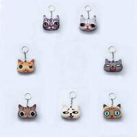 Cute 3D Cartoon Cat Keyring Charm Pendant Bag Purse Key Chain Ring Gift