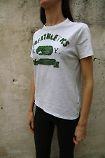 A&F Abercrombie & Fitch Distressed Melange Grey Green T-Shirt Slim fit Muscle S