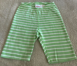 Hanna Andersson Boys Lime Green White Striped Snug Fit Pajama Shorts 130 cm 8