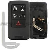 Keyless Entry Remote Car Key Fob Smart Case for Volvo S60 S80 V60 V70 XC60 XC70