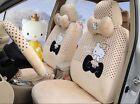 New Cartoon Cute Hello Kitty Universal Car Seat Covers Women Cushion Plush A4