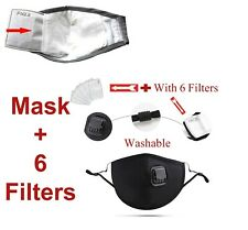 Protective Face MaskCovering Dust Washable Reusable Adult PM 2.5 + Valve