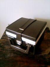Vintage Seven Cassette Tape Case Brown Vinyl Synth Leather Red Velour