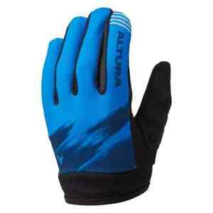 Altura Kid's Spark Long Finger Downhill MTB Cycling Bike Gloves - Blue - Age 7-9