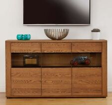 Oak Sideboards, Buffets & Trolleys with Glass Fronted