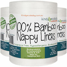 400 Bamboo Nappy Liners flushable, biodegradable,anti-bacterial,compostable,safe