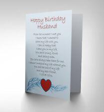 BIRTHDAY HUSBAND LOVE POEM NEW ART GREETINGS GIFT CARD CP1907