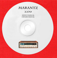 Marantz 2270 owner and service manual on 1 cd in pdf format