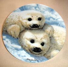 Baby Seals by Mike Jackson Collector Plate Royal Grafton Limited Edition