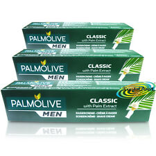 3x Palmolive Classic Shaving Lather Shave Cream 100ml With Palm Extract