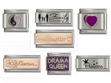 UK Classic Italian Charm fits Nomination 9mm Charm Bracelets Various Designs *UK