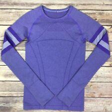 Ivivva FlyTech Long Sleeve Athletic Top Girls Size 6 Power Purple