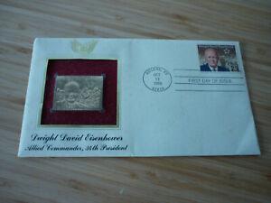 Eisenhower gold stamp 1990 first day of issue Abilene KS