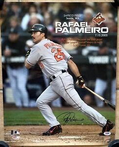 RAFAEL PALMEIRO SIGNED 16x20 PHOTO 3000th HIT LE BALTIMORE ORIOLES PSA/DNA