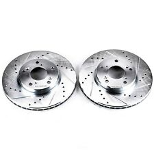 Disc Brake Rotor Set-Extreme Performance Drilled and Slotted Brake Rotor Front
