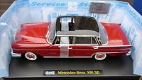 Revell 1960s Mercedes Benz 300SE W112 Rare Red Black 1:18 Bi color Toy Car Model