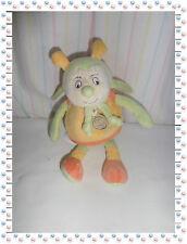 K - Doudou Escargot Choco Jaune Orange Vert  Boite à Musique Doudou et Compagnie