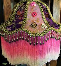 Victorian Lamp Shade Silk Burnout Velvet Bella Rose Lampshade