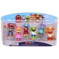 Disney Junior MUPPET BABIES PLAYROOM 6 Figure Playset Kermit Animal Piggy 2019