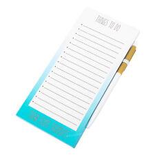 Bleu clair Things to Do magnétique frigo memo pad & Stylo Shopping List Note Jotter