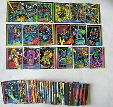 vintage complete Marvel Universe 4 card set (1993) Skybox