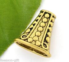 10 PCs Gold Tone Flat Bead Caps Findings 19x17mm