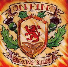 ON FILE - BREAKING RULES CD (2010) 84 RECORDS / SCHOTTLAND OI-PUNK / NEU & OVP