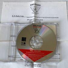 PHIL COLLINS King Biscuit Flower Hour 1999 RADIO SHOW CD CUE (LIVE 1982) GENESIS