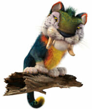 MACAWNIVORE Prehistoric Cat Animal from The CROODS  - Window Cling Decal Sticker