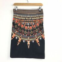 H&M Blogger Fave Sold Out Body Con Jewel Print and Embellished Skirt UK 8/10
