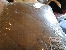 Pottery Barn Belgian flax Diamond linen quilt twin  flagstone New wo tag