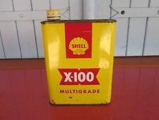 ANCIEN BIDON HUILE VIDE SHELL X 100 MULTIGRADE OIL