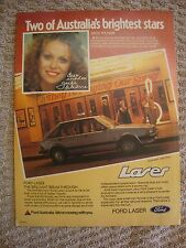1981 KA Ford Laser Ghia 5 Door Hatch Jackie Weaver Aussie Original Magazine Ad