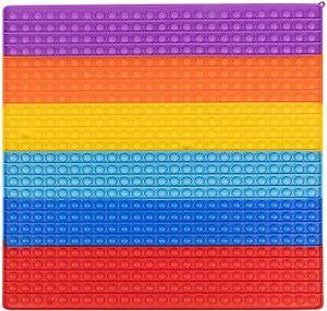 50CM Jumbo 500 Bubble Poppit Push Pop Fidget Toy Big Rainbow Sensory Fidget Toys