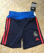 Boy's Bermuda Shorts Adidas Navy/Blue and Red/Black print Climalite All Size 4