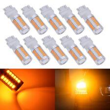 10pcs T25 3157 Led Bulbs Brake Stop Lights DRL Auto Led Lamp Amber Orange