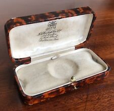 An Antique Or Vintage Leather, Silk And Velvet Jewellery Watch Box, 9.5cm Wide.