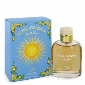Light Blue Sun by Dolce & Gabbana 4.2 oz Eau De Toilette Spray for Men