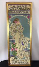 Vintage Sarah Bernhardt Finished Framed Needlepoint