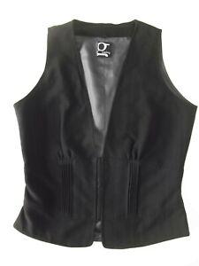 Ladies waistcoat EU40 Size 12? Carling Black Lined H&Eye Good cond Christmas VR1