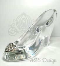 Cinderella Glass Slipper .925 Silver Heart Buckle with Swarovski Crystals Shoe