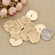 10 Pcs Retro Gold Tone Metal Shank Buttons Sewing Irregular Garment Accessories